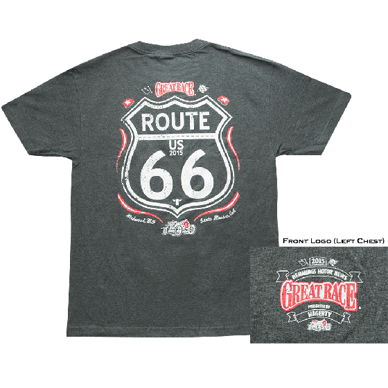 Great Race 2015 Route 66 T-Shirt - Gray