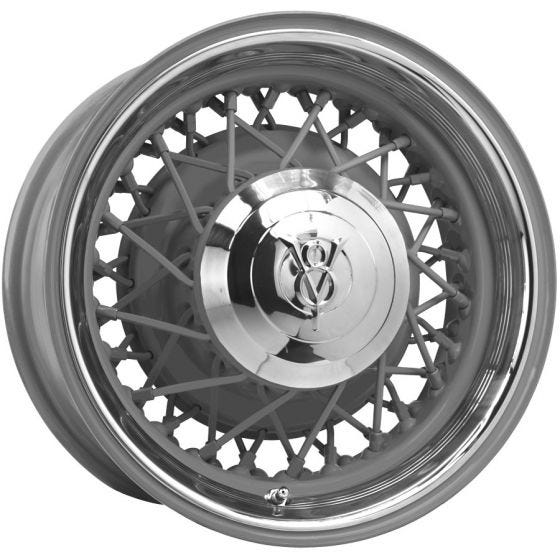15x7 Hot Rod Wire wheel | 5x5 bolt | Primed | Discontinued