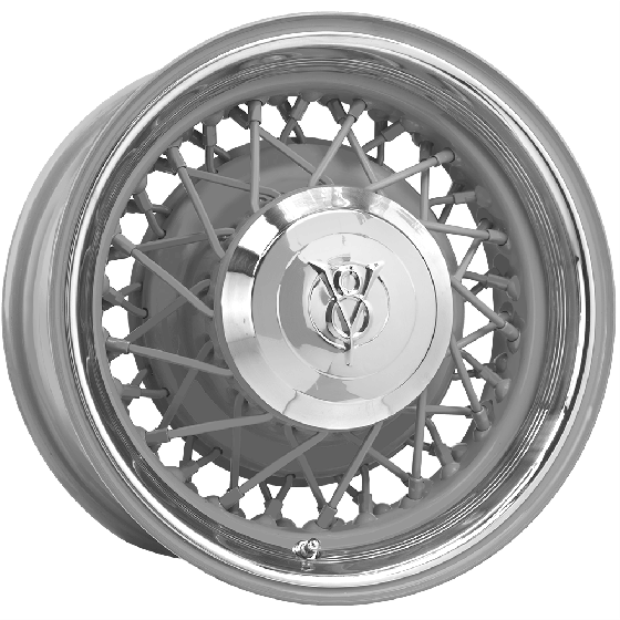 18x6 Hot Rod Wire wheel | 5x4.5/4.75 bolt | Primed | Discontinued