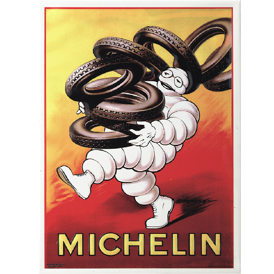 Postcard | Michelin | Bib Carrying Michelin