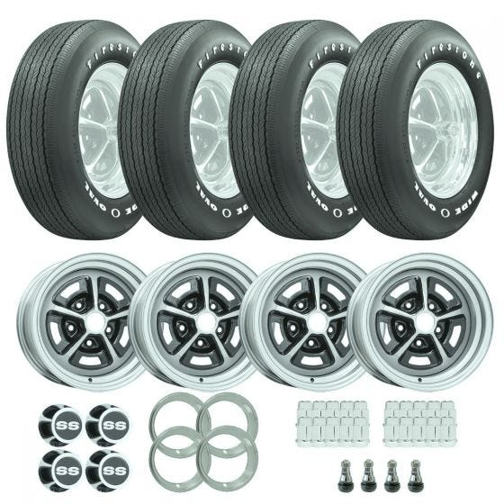 1969 - 1970 Chevelle SS Tire / Wheel Package