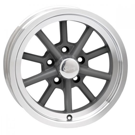 Rocket Launcher Wheel - Gray - 15x4 1/2 (5x4 1/2 bolt pattern)