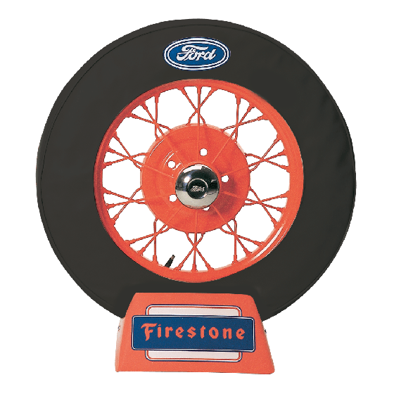 Spare Tire Cover with Ford Logo | Black