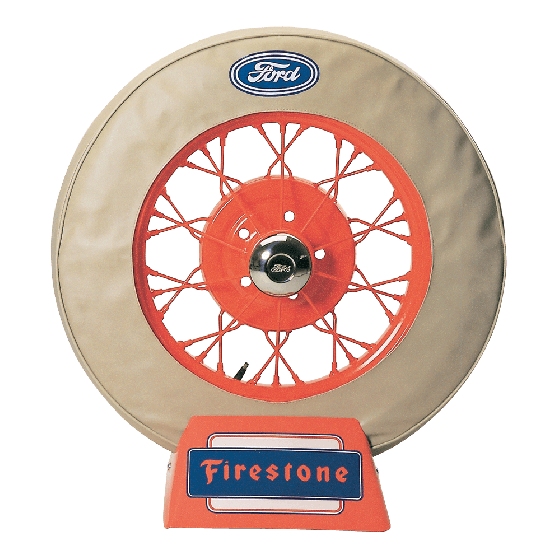 Spare Tire Cover | 19 Inch | Ford Logo (Tan)