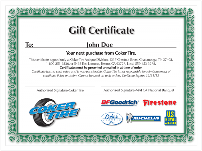 Gift Certificate | $25