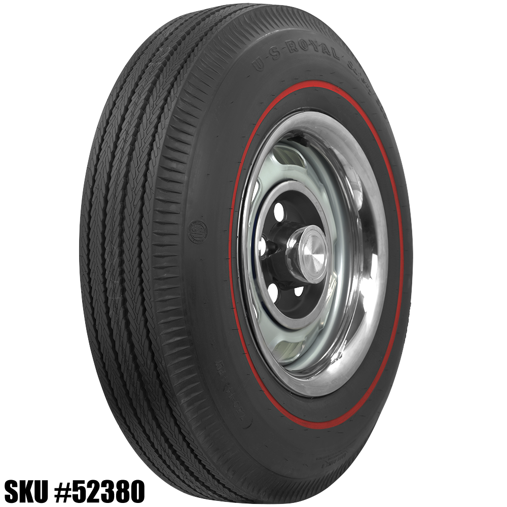14 inch redline tires 1965 mustang tire size