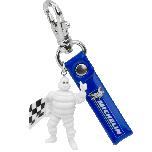 Keychain | Michelin | Mr. Bib Waving Checkered Flag