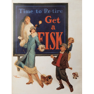 Poster | Fisk | Dog on Leash