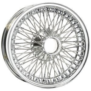 Dayton Wire Wheel-Jaguar-E-Type II-Tube Type-15x5-72-Chrome