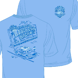 2016 Great Race Blue Ladies Billboard Tee Shirt