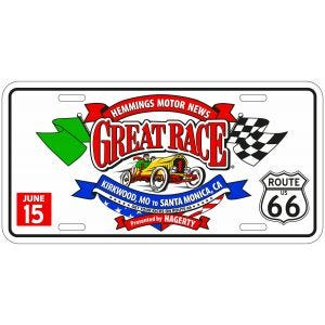 Great Race 2015 License Plate