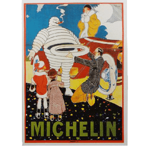 Postcard | Michelin | Bib Helping Motorists