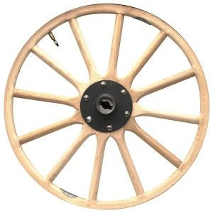 """Wood Wheel UP TO 27"""""""