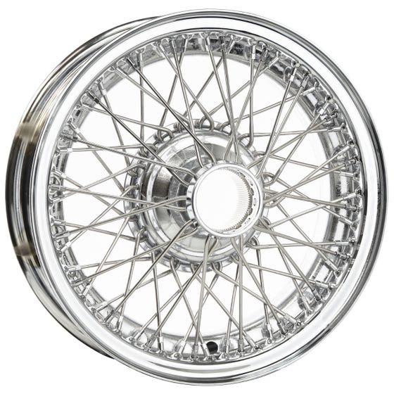 Dayton Wire Wheel-Jaguar-XK120, XK140, XK150-Tube Type-16x5-60-Chrome