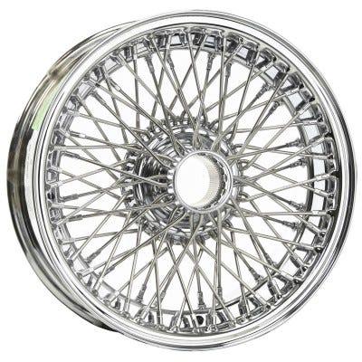 Dayton Wire Wheel-Allard-J2, J2X, K2-Tubeless-16x4-72-Chrome