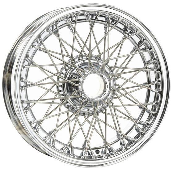 14x5 Dayton Wire 60 Spoke Chrome TT