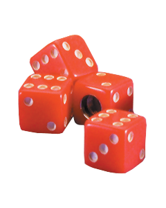 Dice Valve Cap | Red | Set of 4