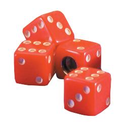 Dice Valve Cap | Red | Set of 4