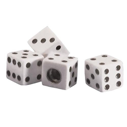 Dice Valve Cap | White | Set of 4