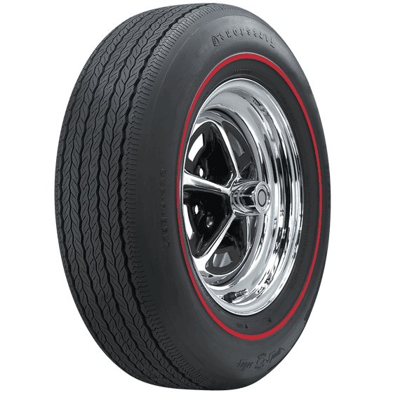 Firestone Wide Oval Radial | Redline | FR70-15