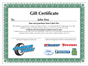 Gift Certificate | $500