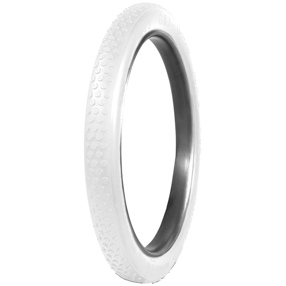 G&J Button Tread Clincher Cycle | All White | 28x2.5