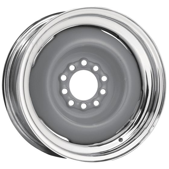 Hot Rod Steel Wheel | Primer Center / Chrome outer