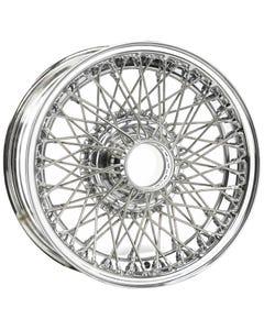 15x6 Dayton Wire 72 Spoke Chrome TBLS