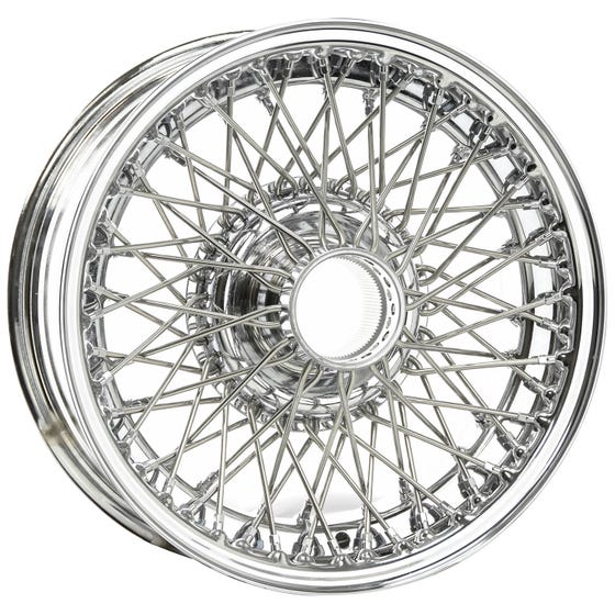 15x6 Dayton Wire 70 Spoke Chrome TT