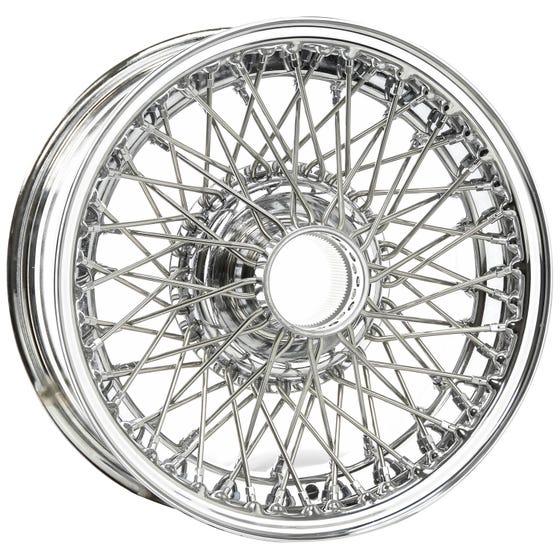 15x6 Dayton Wire 72 Spoke Chrome TT