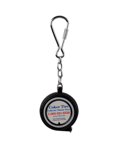 Coker Tire Measuring Tape Keychain