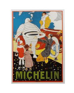 Postcard | Michelin | Bib Helping Motorists