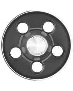 Mopar Rallye Cap   Dark Gray   5x4 1/2