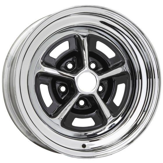 "14x6 Oldsmobile SSI Rallye | 5x4 3/4"" bolt | 4.00"" backspace | Chrome finish"