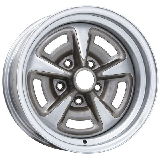 "15x10 Pontiac Rallye II | 5x4 3/4"" bolt | 5.00"" backspace | Painted finish"