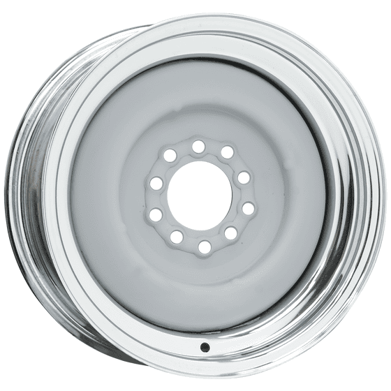 Solid Wheel | Primer Center / Chrome Outer