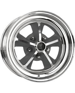 "15x7 1969 Shelby   5x4 1/2"" bolt   3.88"" backspace   Aluminum Center/Chrome Outer finish"