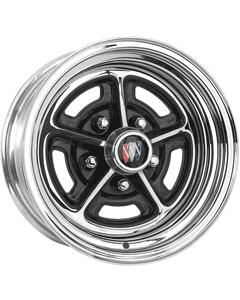 "15x6 Buick Rallye | 5x4 3/4"" bolt | 3.50"" backspace | Chrome finish"