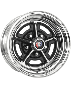 "15x7 Buick Rallye | 5x4 3/4"" bolt | 4.00"" backspace | Chrome finish"