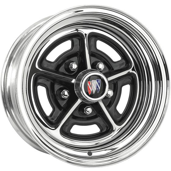 "14x7 Buick Rallye | 5x4 3/4"" bolt | 4.00"" backspace | Chrome finish"