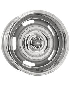 "15x7 Chevy Rallye | 5x4 3/4"" bolt | 4.25"" backspace | Silver Powder Coat finish"