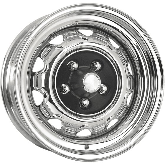 "15x7 Mopar Rallye | 5x4 1/2"" bolt | 4.25"" backspace | Chrome finish"