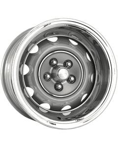 "15x8 Mopar Rallye | 5x4 1/2"" bolt | 4.50"" backspace | Silver Powder Coat finish"
