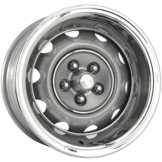 "15x10 Mopar Rallye | 5x4 1/2"" bolt | 5.00"" backspace | Silver Powder Coat finish"