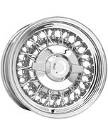 "15x6 Chrysler Wire | 5x5 1/2"" bolt | 3"" backspace | Chrome/Stainless Spokes finish"