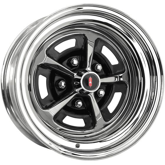 "15x8 Oldsmobile SSI Rallye | 5x4 3/4"" bolt | 4.50"" backspace | Chrome finish"
