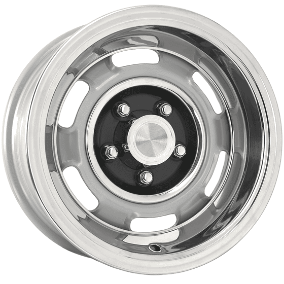 "15x10 Pontiac Rallye I | 5x4 3/4"" bolt | 5.00"" backspace | Silver Powder Coat finish"