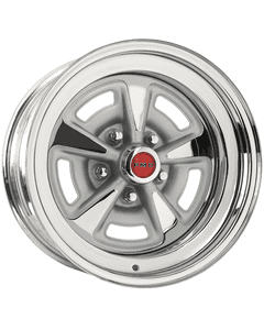 "15x8 Pontiac Rallye II | 5x4 3/4"" bolt | 4.50"" backspace | Chrome finish"