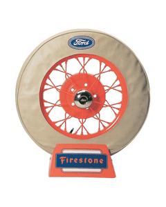 Spare Tire Cover | 19 Inch | Ford Logo (Tan)