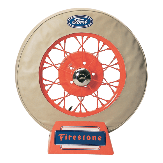 Spare Tire Cover   19 Inch   Ford Logo (Tan)